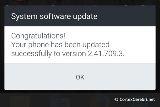 System software update - Phone successfully updated to version 2.41.709.3 - HTC 10 Nougat Android 7 Update Release in Europe